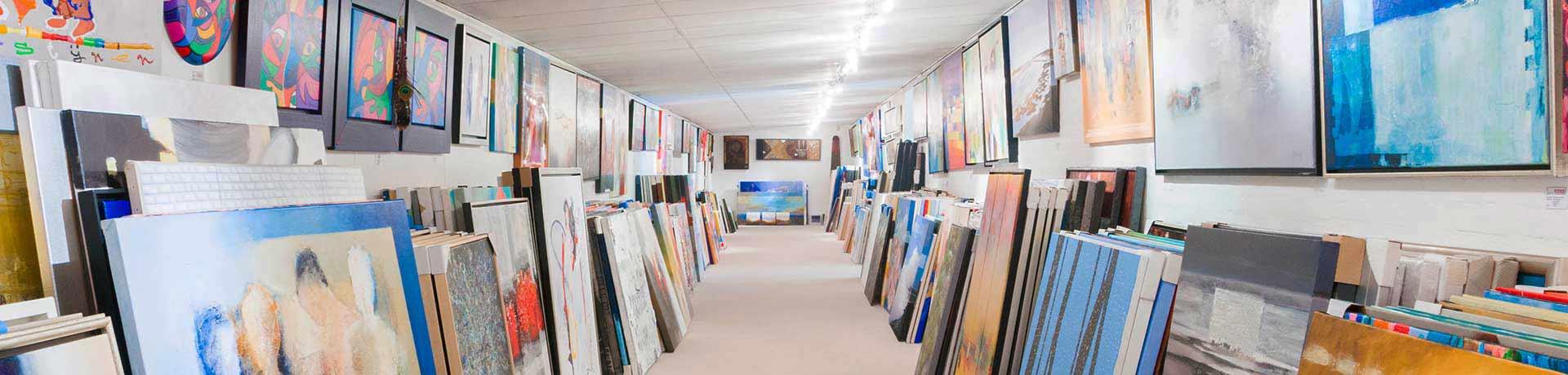 Kunstuitleen Galerie Sous-Terre stockruimte